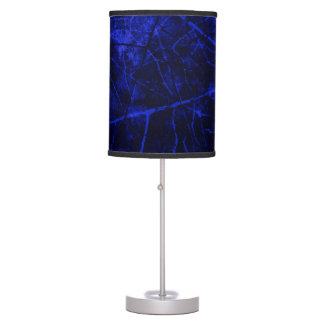 Royal Blue Black Crackle Lacquer Grunge Texture Table Lamp