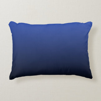 Royal Blue Black Ombre Decorative Pillow