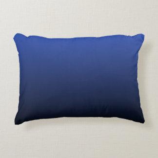 Royal Blue Black Ombre Decorative Pillow