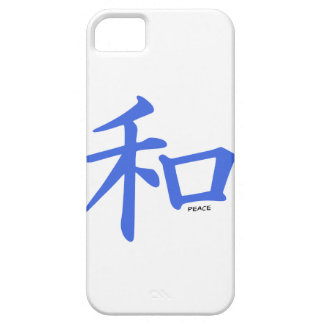 Royal Blue Chinese Peace Sign iPhone 5/5S Covers