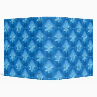 Royal Blue Christmas Snowflake Pattern 3 Ring Binder