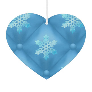 Royal Blue Christmas Snowflake Pattern Air Freshener