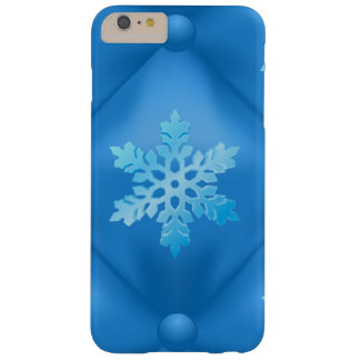 Royal Blue Christmas Snowflake Pattern Barely There iPhone 6 Plus Case