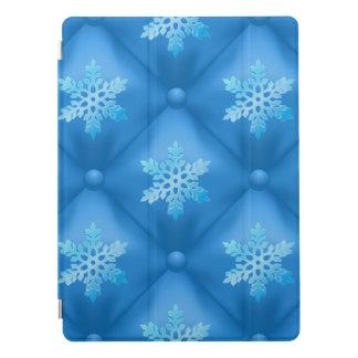 Royal Blue Christmas Snowflake Pattern iPad Pro Cover