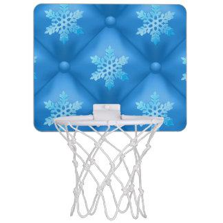 Royal Blue Christmas Snowflake Pattern Mini Basketball Hoop