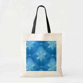Royal Blue Christmas Snowflake Pattern Tote Bag