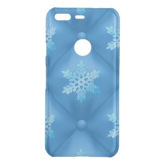 Royal Blue Christmas Snowflake Pattern Uncommon Google Pixel Case