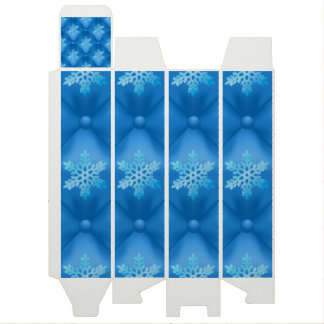 Royal Blue Christmas Snowflake Pattern Wine Gift Box