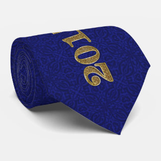 Royal Blue Class of 2017 with Gold Tie