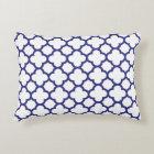Royal Blue Classic Quatrefoil Accent Pillow