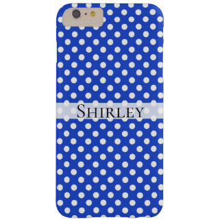 Royal Blue Combination Polka Dots by STaylor Barely There iPhone 6 Plus Case