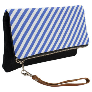 Royal Blue Combination Stripes by Shirley Taylor Clutch