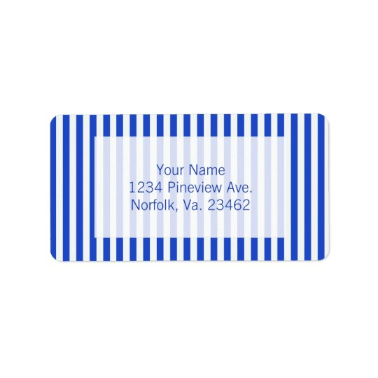Royal Blue Combination Stripes by Shirley Taylor Label