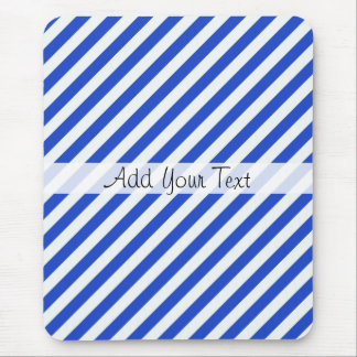 Royal Blue Combination Stripes by Shirley Taylor Mouse Pad