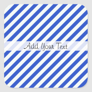 Royal Blue Combination Stripes by Shirley Taylor Square Sticker