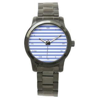 Royal Blue Combination Stripes Watch
