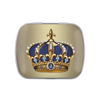Royal Blue Crown Prince Baby Shower Candy