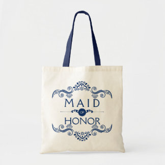 Royal Blue Decorative Frame Maid Of Honor Tote Bag