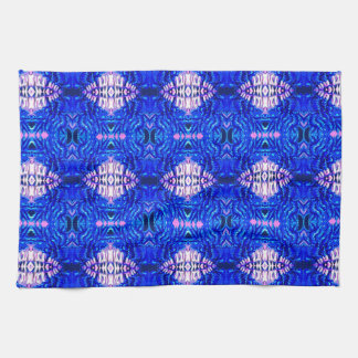 royal blue diamond sand hippie tiedye rug pattern kitchen towel