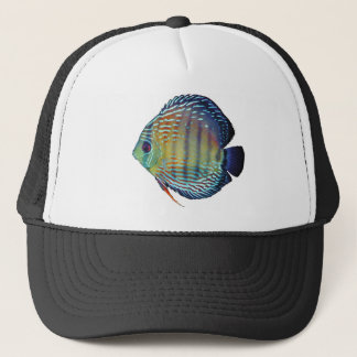 Royal Blue Discus Fish Trucker Hat