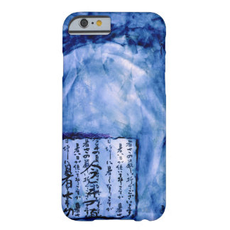 Royal Blue Distressed Script Art Watercolor Vivid Barely There iPhone 6 Case