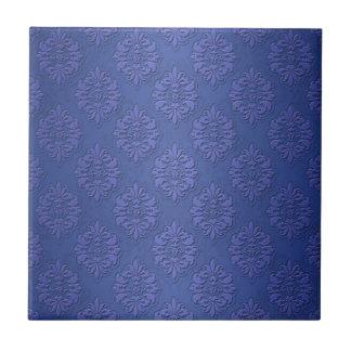 Royal Blue Double Damask Ceramic Tiles