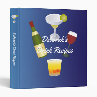 Royal Blue Drink Recipe 3 Ring Binder