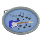 Royal Blue Electric Guitar Belt Buckle