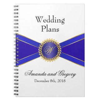 Royal Blue Elegance Monogram Notebooks