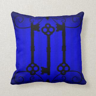 Royal blue elegance throw pillow