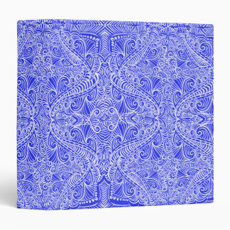 Royal Blue Elegant flow 3 Ring Binders