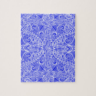 Royal Blue Elegant flow Jigsaw Puzzle