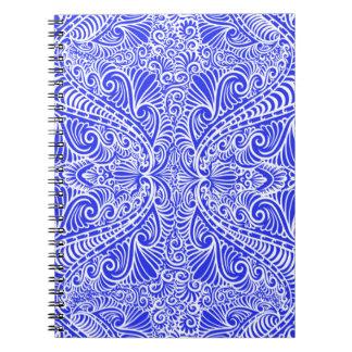 Royal Blue Elegant flow Notebook