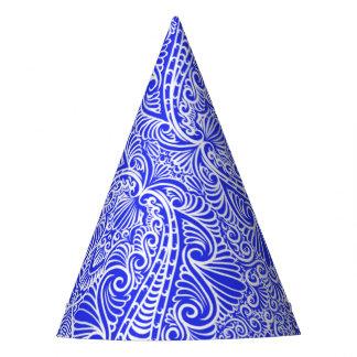 Royal Blue Elegant flow Party Hat