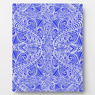 Royal Blue Elegant flow Plaque