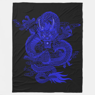 Royal Blue Emperor Dragon Fleece Blanket