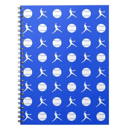 Royal Blue Fastpitch Pattern Notebook