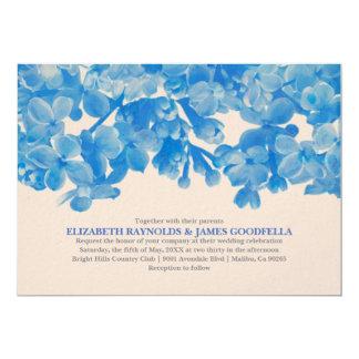 Royal Blue Floral Wedding Invitations