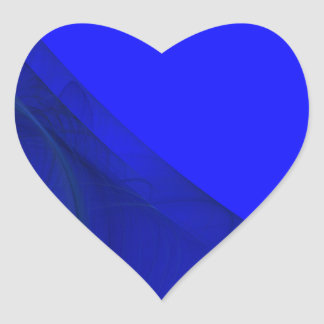 Royal Blue Fractal Background Heart Sticker