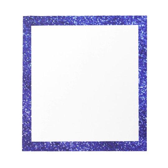Royal Blue Glitter Notepad