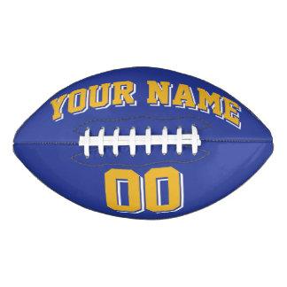 ROYAL BLUE GOLD AND WHITE Custom Football