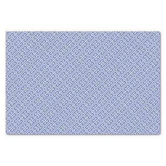 Royal Blue Greek Key Pattern Tissue Paper