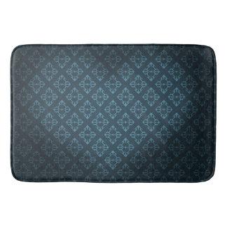 Royal Blue Heart Bath Mat
