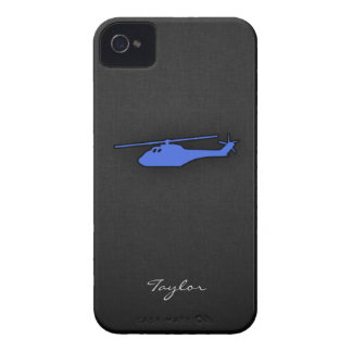 Royal Blue Helicopter iPhone 4 Case-Mate Cases