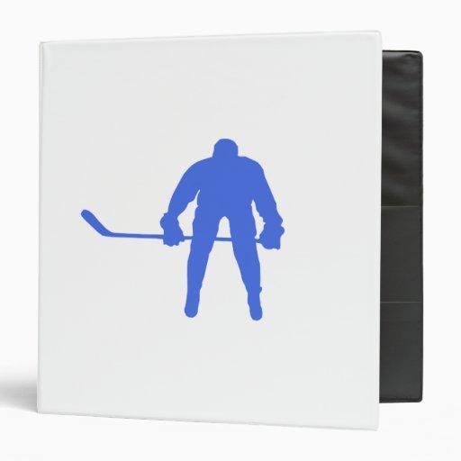 Royal Blue Hockey Vinyl Binders