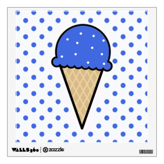 Royal Blue Ice Cream Cone Wall Sticker