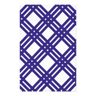 Royal Blue Lattice Stationery Paper