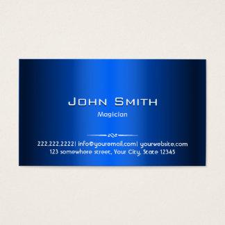 Royal Blue Metal Magician Business Card