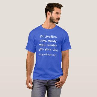 Royal Blue Micah 6:8 T-Shirt