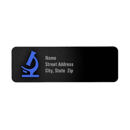 Royal Blue Microscope Return Address Label